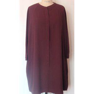 NEW YORK & COMPANY BURGUNDY SHIFT DRESS XL